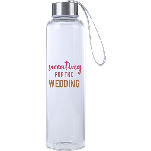 Mad 2 Order Bridal Glass Water Bottle Novelty Gift Sweating