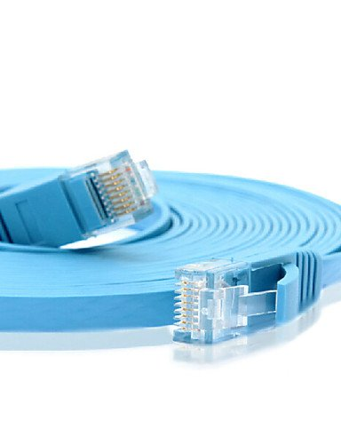 5M//16FT J45 Cat 6a Cat 6 Flat UTP Ethernet Network Cable RJ45 Patch Extension Cable white
