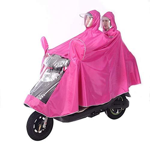 Battercake Adultos La Poncho Impermeable Motocicleta Coche Doble Mujeres Del Lluvia Casuales Eléctrica De P Y Los 0W0f6rn