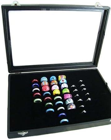 Amzdeal Caja para anillos, Caja de joyería, Caja de exposición ...