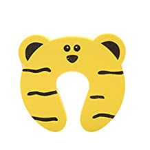 Set of 18 Cartoon Baby Infant Safety Door Doorstop Prevent Nipping Hand(Tiger)