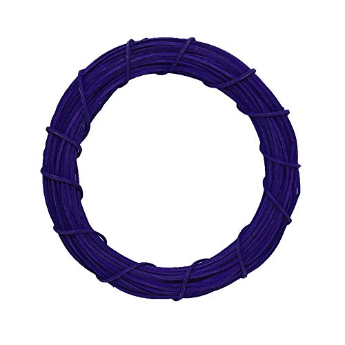 CHoppyWAVE Round Wreath Solid Color Rattan Hoop Hanging Ornament for Door Wall Wedding Christmas Decor - Purple 10cm (Personalized Ornaments Christmas Ball Uk)