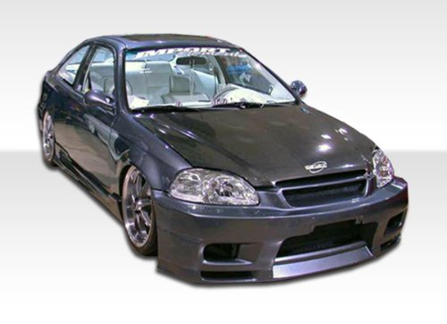 Body R33 2dr - 1996-1998 Honda Civic 2DR Duraflex R33 Body Kit - 4 Piece - Includes R33 Front Bumper Cover (101774) Spyder Rear Bumper Cover (101744) Spyder Side Skirts Rocker Panels (101720)