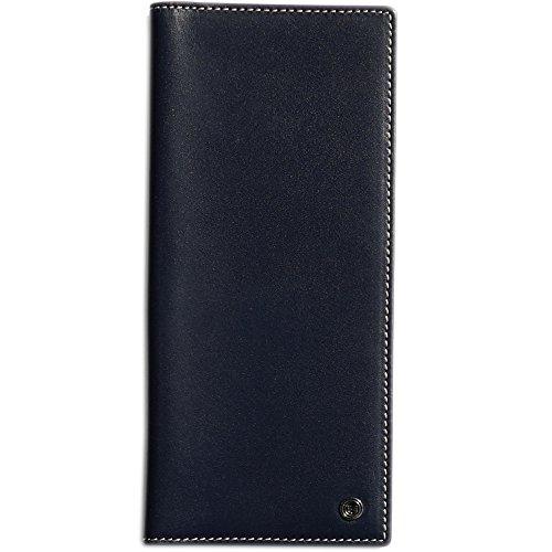 Pacer Go RFID Blocking Slim Minimalist Long Travel Wallet Genuine Leather Passport Holder Travel Cover with Passport Holder Slot, Cash Slot, Card Slot, Boarding Pass (Dark Blue)