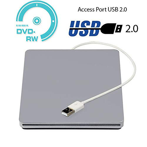 TONGTONG External Blu-ray Drives,USB 2.0 DVD Drive Optical Drive External CD-RW Burner DVD ROM Player for Most Notebook System