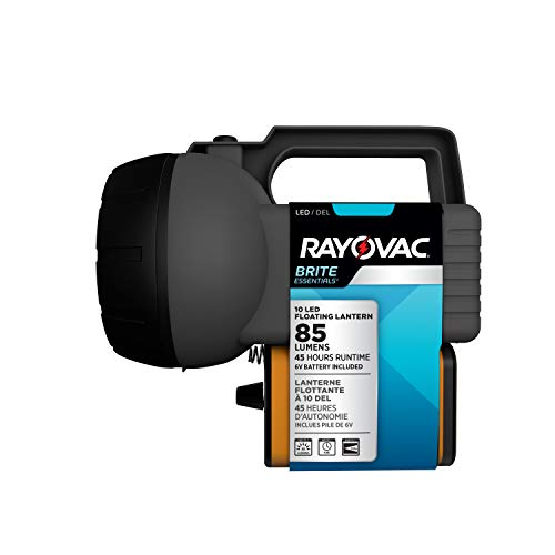 Rayovac 10 LED Lantern, Floating Camping Lantern with Battery Included - Perfect for Power Outages, Emergency Situations, Camping, Hiking, Hurricanes (Led Floating Lantern)