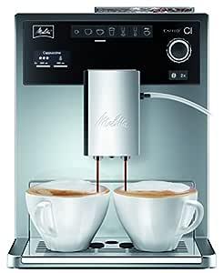 Melitta 970-306 - Cafetera automaticá (1.8L, 15 bar, 1500 W), con molinillo integrado, LCD display, My-Coffee, espumadador de leche, color plata