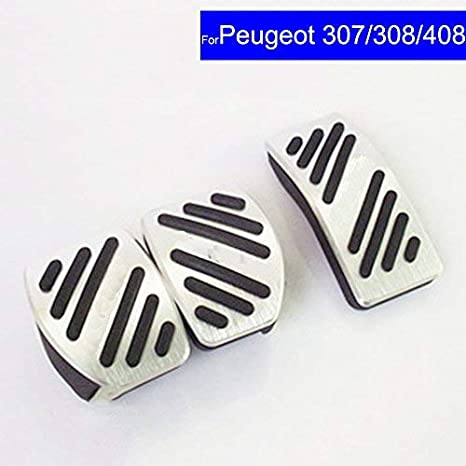 Amazon.com: SZSS-CAR Car New Aluminium Alloy Fuel Petrol Clutch Fuel Brake Braking Pad Foot Pedals Rest Plate Set For Peugeot 307 308 408 Pedals: Automotive