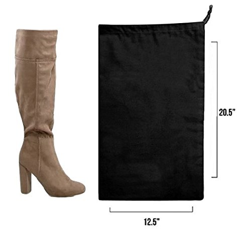 Earthwise Boot Shoe Bag 100% Cotton MADE IN THE USA in Black with Drawstring for storing and protecting boots (Pack of 2) by Earthwise (Image #4)