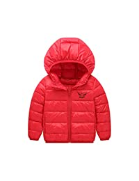 Unisex Boy Girl Jacket with Wing Hooded Thick Winter Coat for 2-9 Y/O Children