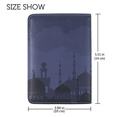 Coosun arabische Nacht mit Moschee Hintergrund Leder Passhülle Cover für Reisen eine Tasche