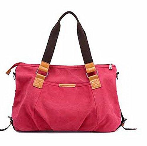 AllhqFashion Bolsas Rojo Fin de Bolsas de Escapadas Mano de FBUBBD180782 Mujeres de Hombro Semana ffzrq4w