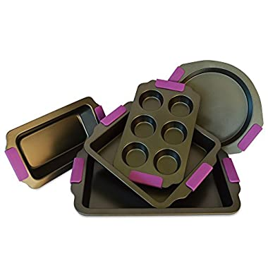 Premier Bakestore Select Range 5 piece Nonstick Bakeware Set- Premium Quality, Ultra Non Stick, Heavy Guage Materials.
