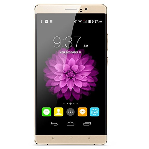 PADGENE® Handy Smartphone mit 6 Zoll IPS Display (1280*720) Android 5.1 Mobile Phone MTK6580 Quad Core 1.3GHz (Gold)