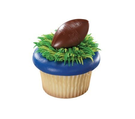 - NFL Football Shield Cupcake Rings - 24 ct
