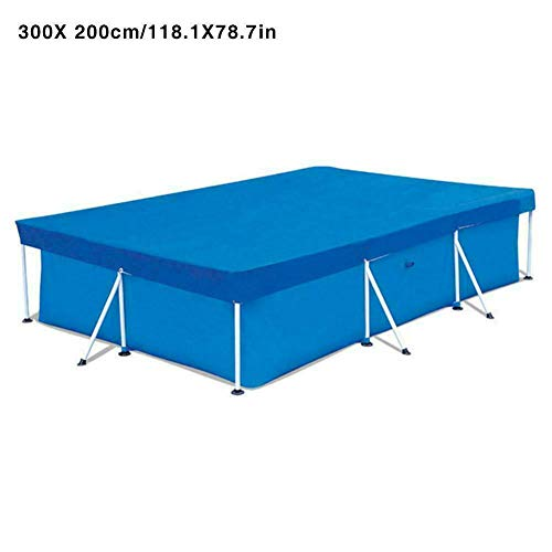 Aslion Rectangular Swimming UV-Resistant Pool Cover Waterproof Dustproof Durable Covers (300Cmx200Cm) (Best Solar Pool Covers 2019)
