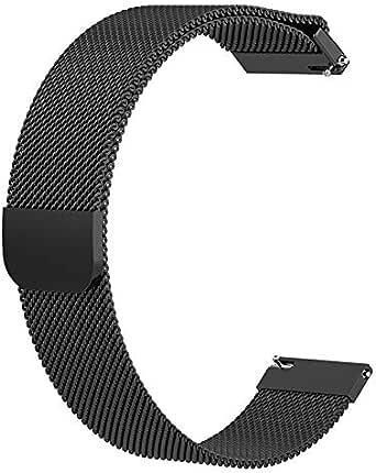 iLive متوافق مع سامسونج جالاكسي ووتش (42 مم) الفرقة استبدال حزام ميلانس 20 مم متوافق مع سامسونج جالاكسي ووتش SM-R810/SM-R815 / Gear Sport/Suunto 3 ساعة ذكية للياقة (42 مم)