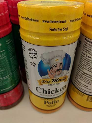Chef Merito Chicken Seasoning 14 Oz. (6 Pack)