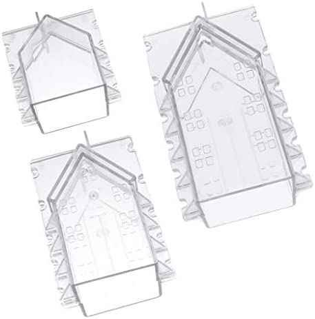 dailymall キャンドルモールド キャンドル金型 石鹸モールド 家の形 DIY キャンドル 用品 プラスチック 3個入り