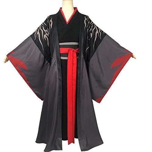 NSOKing Anime Grandmaster Demonic Cultivation Cosplay Mo Dao Zu Shi Wei Wuxian Cosplay Jiang Cheng Costume Hanfu (XXX-Large, -
