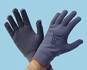 - Pack of 12 Grey 7 Size Small Polyco Matrix D Grip Gloves