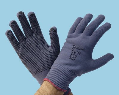 Size Small - Pack of 12 Grey 7 Polyco Matrix D Grip Gloves