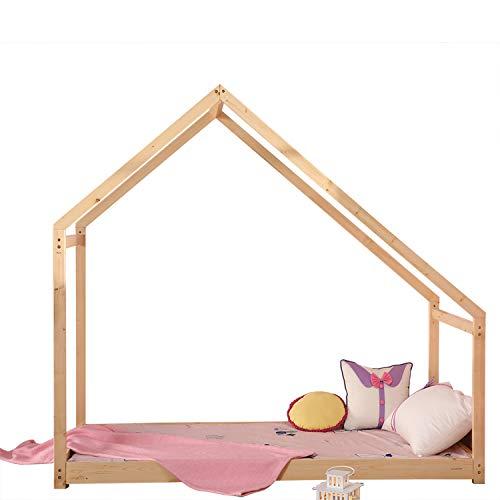Sliverylake House Bed Frame Toddler Bed Premium Wood