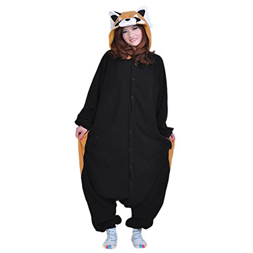Unisex Animal Cosplay Raccoon Jumpsuit Pajama Costumes Onesie -