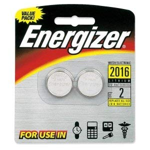 Eveready Lithium Manganese Dioxide General Purpose Battery. ENERGIZER WATCH 2016 TWO PACK. Lithium Manganese Dioxide - 3V DC
