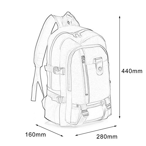 Green Shoulder Bag Outdoor Student Color Backpack Solid Army Men Bagpack Trips use Bag Mengonee School Women Multi Canvas Camping TrqdwApr
