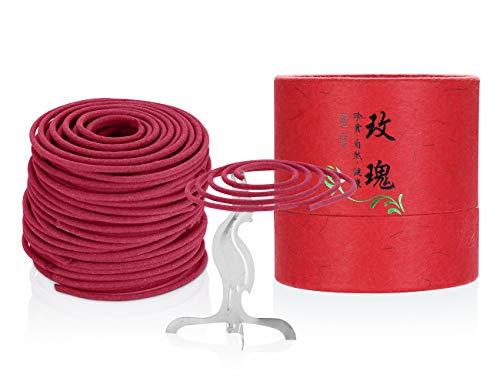 Incense Coils Zen Buddhist Coils Incense for Burner Rose Incense