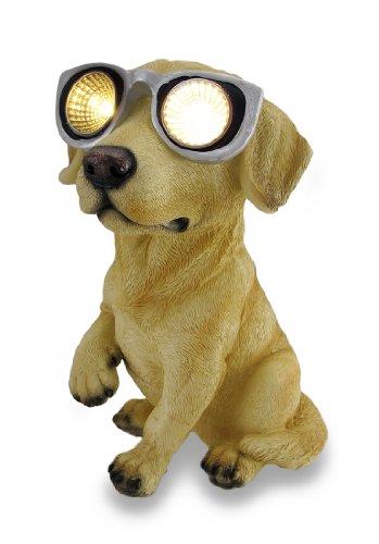 Golden Lab `Solar Eyes` Solar LED Accent Light Sculpture