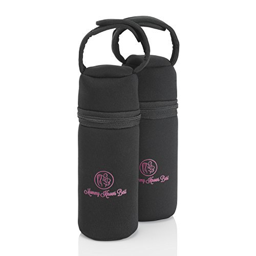 947297280b Individual Baby Bottle Cooler Bag (2 Pack) - Insulated Breast Milk Storage  for Single