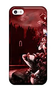 Iphone 5/5s Hard Back With Bumper Silicone Gel Tpu Case Cover Touhou