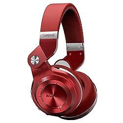 Bluedio T2 Plus Turbine Wireless Bluetooth Headphones With Micmicro Sd Card Slotfm Radio (Red)