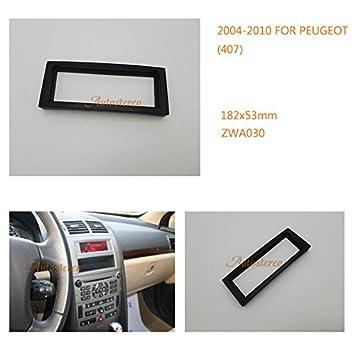 Embellecedor ZWNAV para la radio del coche, para Peugeot 407 2004-2010, 407 Coupe, 2005-2011 Citroën: Amazon.es: Coche y moto