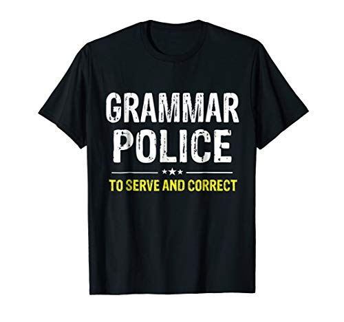 Grammar Police Women and Kids Funny Costume Idea T-Shirt]()