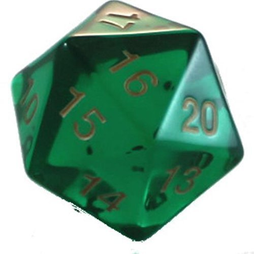 Koplow Games Emerald D20Count Down Large 55mm (1), Green ()