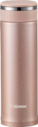 Zojirushix6682;x65E0; Sm-Jte46Px Stainless Steel Travel Mug With Tea Leaf Filter, 0.46-Liter, 16 oz, Pink Champagne