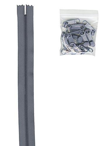 Annie Handbag - Patterns ByAnnie 4 Yards of 16mm #4.5 Zipper Chain and 16 Ex-Large Gunmetal