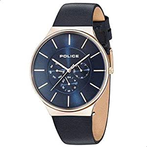 Police Casual Watch for Men Leather, P 15044JSR 03