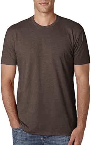 Next Level Apparel Men's CVC Crewneck Blended T-Shirt - Espresso - X-Large