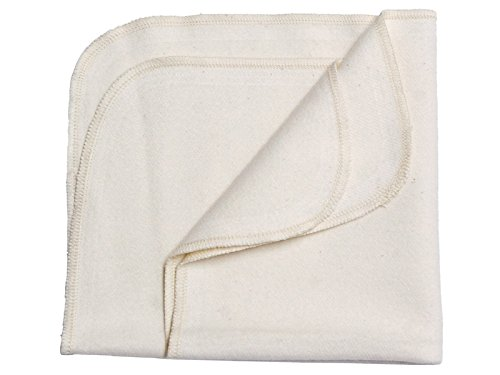 Disana 100% Organic Brushed Cotton Receiving Swaddling Blanket Pack of 2 (31.5 X 31.5 inches) ()