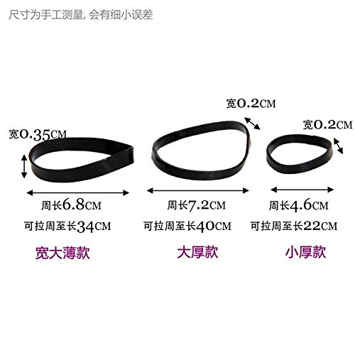 Bold Holster - The trend of small black rubber band rubber band Bold thickening children holster Tousheng hair ring box for women girl lady