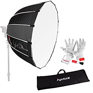 "Aputure Light Dome 35"" Softbox with Bowen-S Speed Ring, Carrying Bag and Pergear Clean Kit for Aputure Light Storm COB 120t and Other Bowen-S Mount Lights"