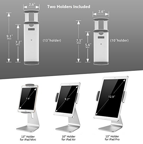 Sensational Abovetek Elegant Tablet Stand Aluminum Ipad Stand Holder Desktop Kiosk Pos Stand For 6 13 Inch Ipad Pro Air Mini Galaxy Tab Nexus Tablet Mount For Home Interior And Landscaping Palasignezvosmurscom