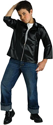 Black Fifties Costumes (Forum Novelties Flirtin with The 50's Child Greaser Jacket, Medium)