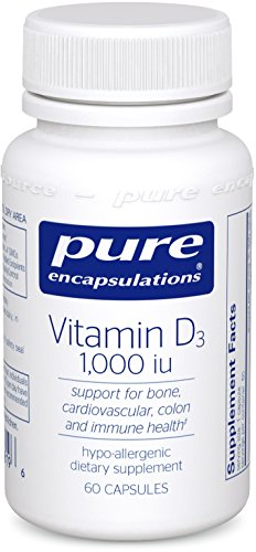 Pure Encapsulations Vitamin D3 1000 IU 60 vcaps