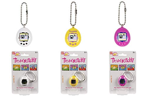 (Tamagotchi Chibi Series 4 White/Black, Yellow/Purple, Purple/Blue/Pink Digitial Pets Digitial Pets)