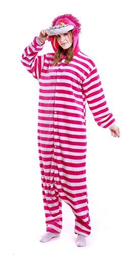 YACHUN Adult Unicorn Pajamas Animal Costume Cosplay Onesie Halloween Gift Cheshire Cat (Cheshire Cat Woman Halloween Costume)